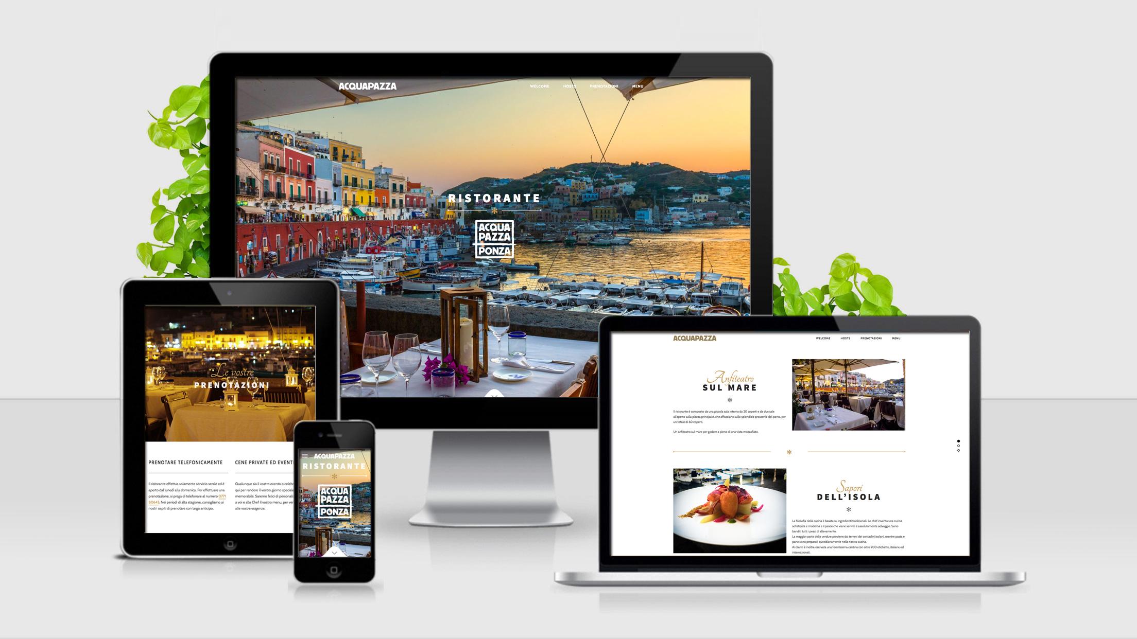 Acqua Pazza - sito web responsive