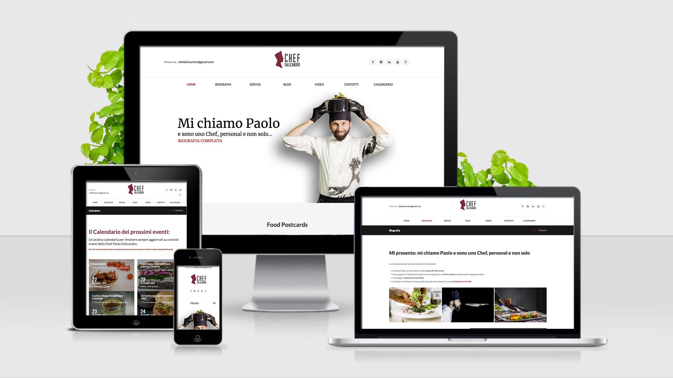Chef Dalicandro - sito web responsive
