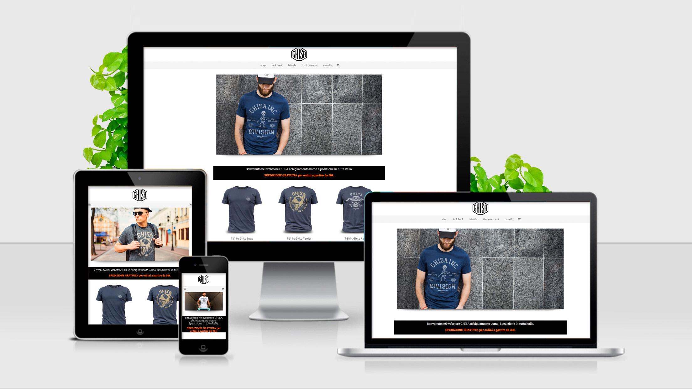 GHISA - Sito web | e-commerce responsive